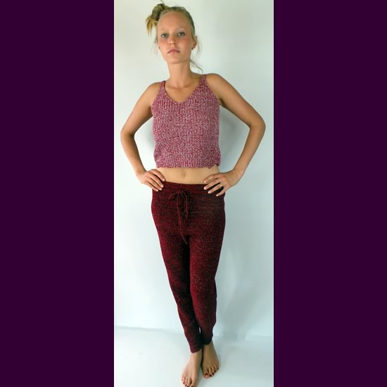 DCO Fashion Boutique Red Knitted Style Pants