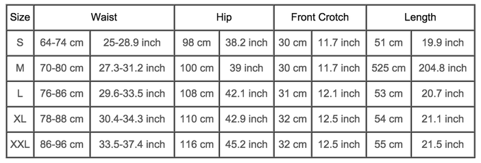 womens clothing sizes