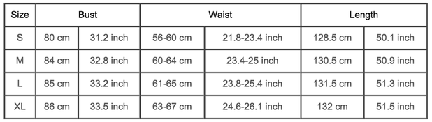 Women's Dress Sizing