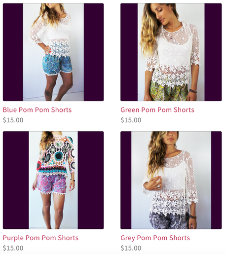 Dress Clothing Online Pom Pom Shorts