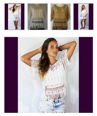 DCO Lace Fringe Tops