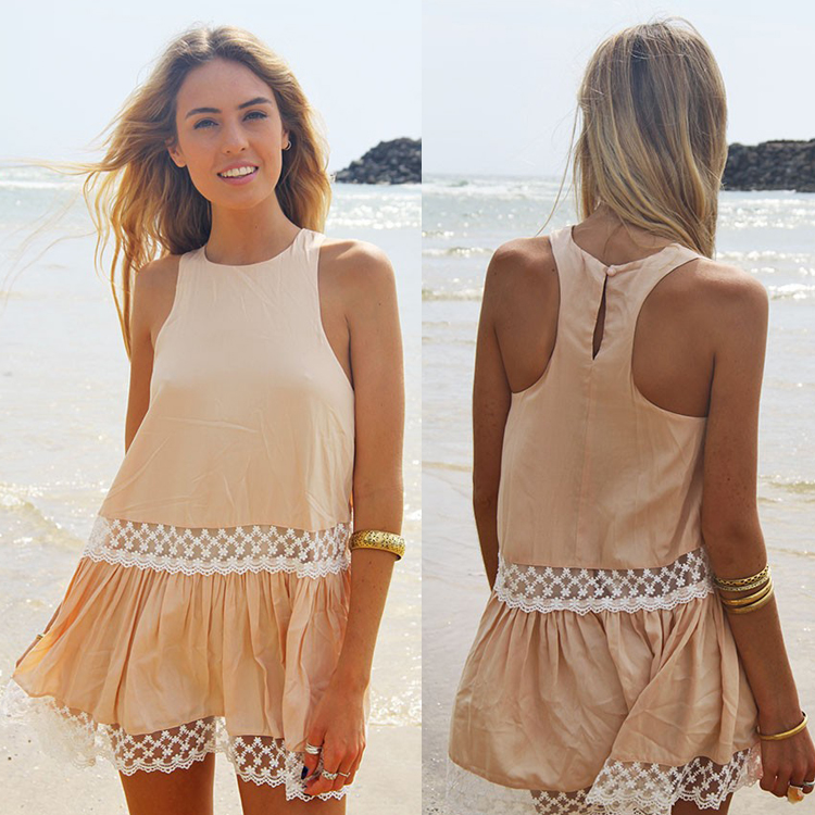 Dress Clothing Online lace Khaki Dresses
