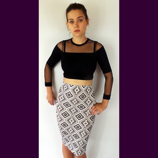 DCO Black Mesh Crop Tops