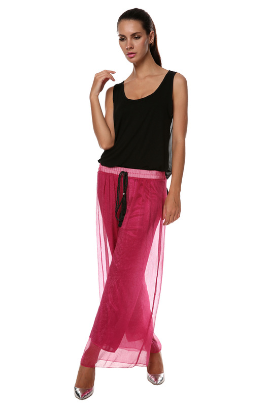 Casual Loose High Waist Wide Leg Pants