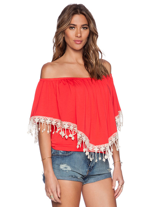 Dress Clothing Online Tassel Trim Tops