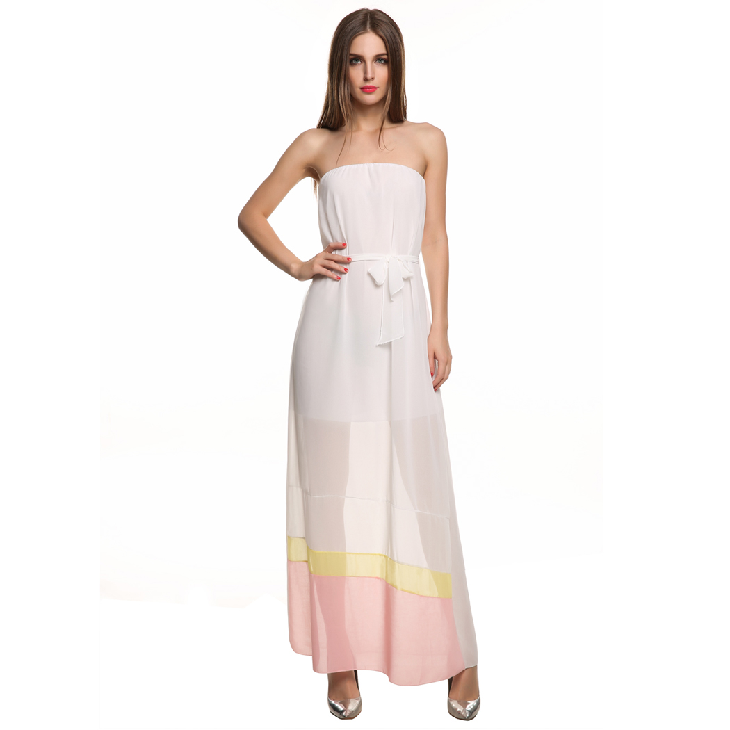 how to make a strapless maxi dress